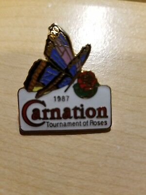 Three Carnation Tournament of Roses Pins - see photos