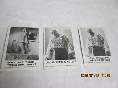 Spook Stories 1961 Leaf Brands Trading Cards lot of 3  #47,50,142