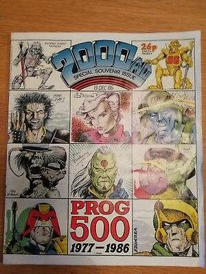 1986 2000AD Prog 500 Special Souvenir Issue - Excellent Condition