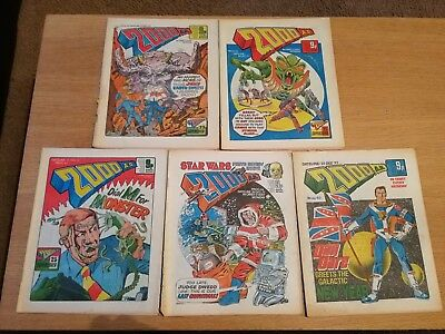 2000ad prog 41 - 45 bundle - Judge Dredd