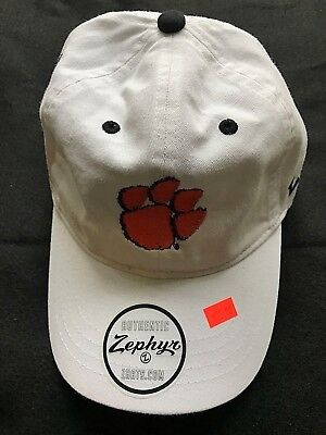 2018 Cotton Bowl Playoff White Adjustable Cotton Hat Zephyr Clemson Tiger Paw