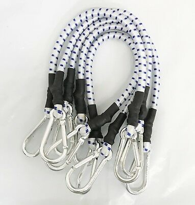 """5pc 24"""" Inch Thick Heavy Duty Bungee Cords With Aluminum Hooks"""