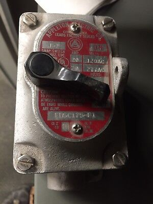 Vintage appleton electric explosion proof switch