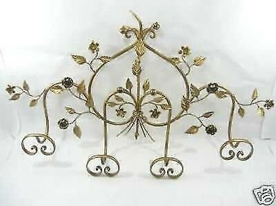 Coat hangers CLOTHES HOOK wrought iron rose 4 PLACES