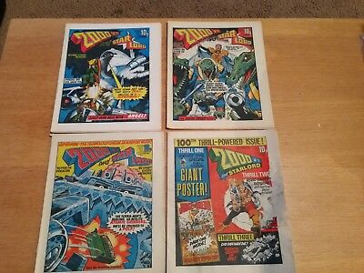 2000ad progs 96, 98, 99 and 100 Good Condition