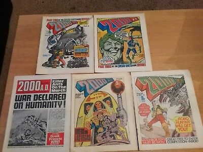2000ad prog 76-80 includes rare banned issues