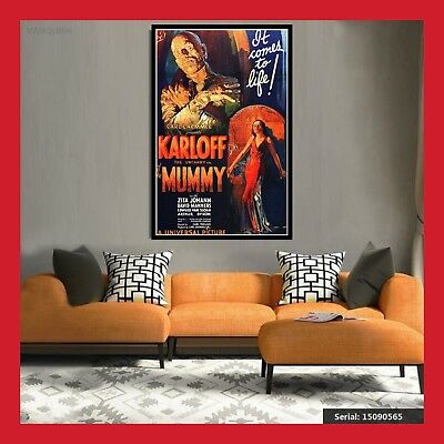 TOILE AFFICHE US CINEMA MOVIE SORTIE FILM LA MOMIE 1932 POSTER PHOTO 40x60 60x80