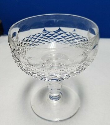 """WATERFORD crystal COLLEEN  champagne sherbet Goblet or Glass 4-3/8"""""""