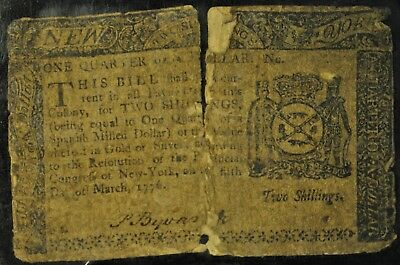 1776 Two Shillings Note. ITEM B26