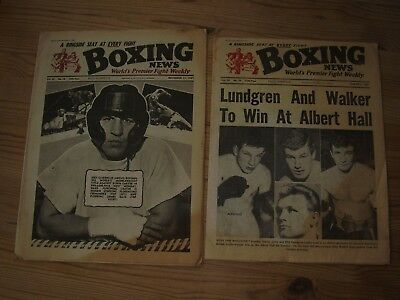 Two Vintage Boxing News Magazines 06/03/1964 And 11/12/1964(Both Good Condition)