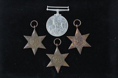 4 x Vintage WW.2 Campaign Medals Full Size Inc. 1939-45 Star & Italy Star