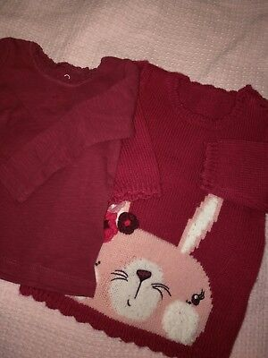 Baby Girl's Winter warm Knitted Sweater / Jumper And Blouse Set 6-9 Months