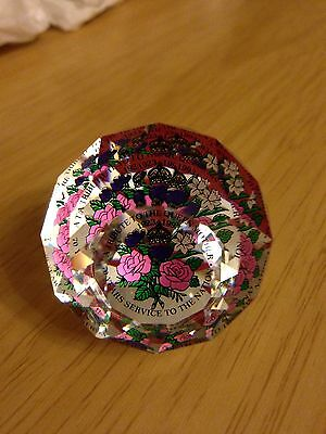 Swarovski Paperweight Queen Mother 70 Years Service