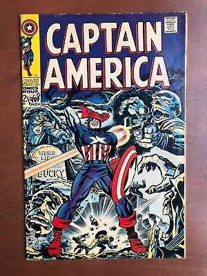 Captain America #107 (1968) 6.0 FN Marvel Key Issue Comic Silver Age Stan Lee