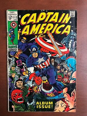 Captain America #112 (1969) 5.5 VG Marvel Key Issue Comic Silver Age Stan Lee