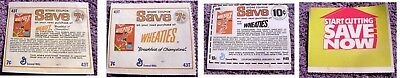 Lot of (2) Vintage Wheaties Coupons w Bruce Jenner from 1970's & 1981