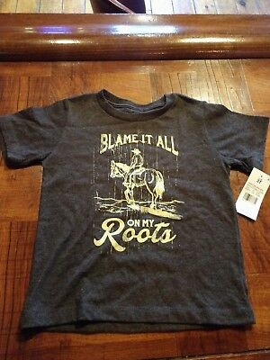 Lyric Culture Red label Boys 3T Blame it All On my roots T shirt