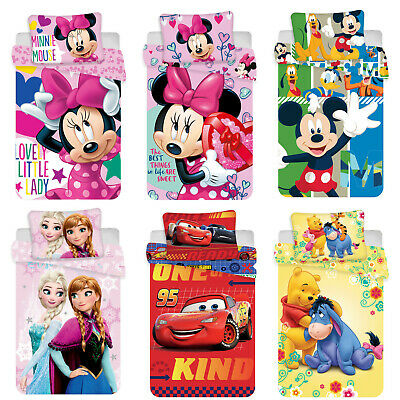 Disney Mickey Mouse Cars Winnie the Pooh Frozen Baby Bed Linen 39 3/8x53 1/8in