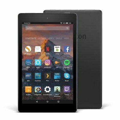 amazon Tablet Fire HD 8, 32GB, Schwarz, ohne Spezialangebote, 7. Generation