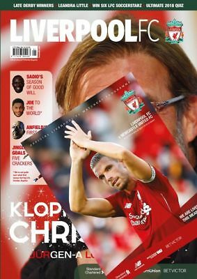 liverpool v newcastle 2018/19 programme and january 2019 liverpool fc magazine