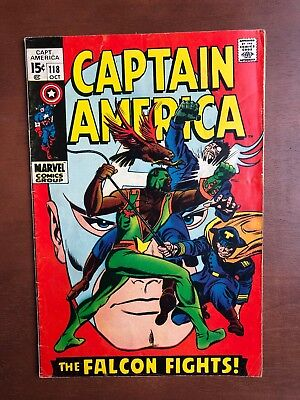 Captain America #118 (1969) 7.0 FN Marvel Key Issue Comic Silver Age 2nd Falcon