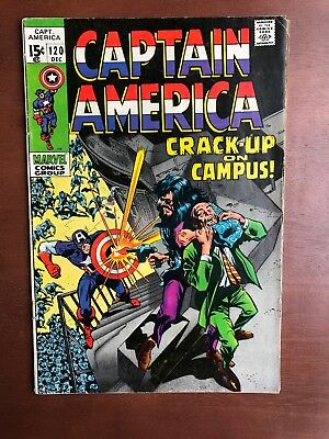 Captain America #120 (1969) 7.0 FN Marvel Key Issue Comic Silver Age Stan Lee