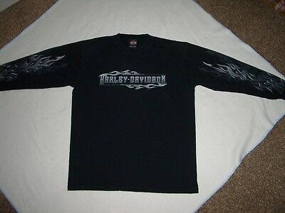 Harley Davidson Long Sleeve T Shirt Mens XL  Harley Davidson World Oklahoma City