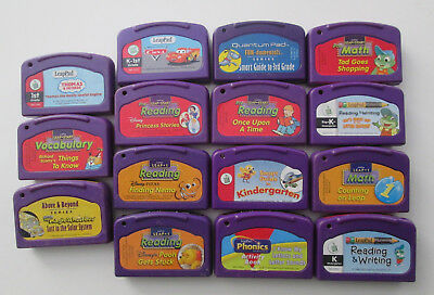 15 Leapfrog LeapPad  Leap+1 Quantum Leap - Assorted Game Cartridges - Untested