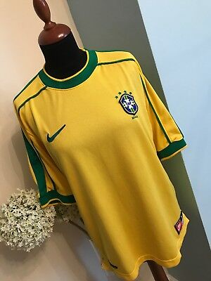Authentic NIKE Brazil Football Top Size Small Excellent Condition