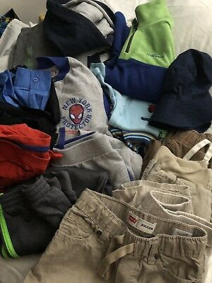 Boy's Clothing, Jeans Pants Shirts, Sizes 6/7-7-8, Fall/Winter; Lot of 17 Pieces