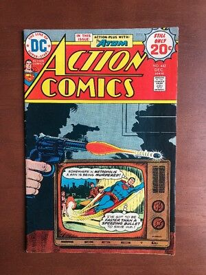 Action Comics #442 (1974) 7.0 FN DC Key Issue Bronze Age Superman Atom