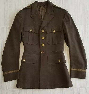WW2 WWII US Army Air Force Officers Dress Tunic Jacket Coat - No Belt