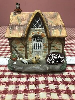 """1987 Artaffects Curator Collections by Rob Sauber Music Box """"Home Sweet Home """""""