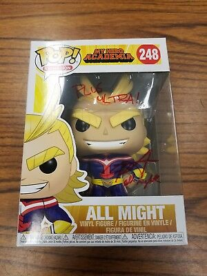 Chris Sabat Signed Autographed ALL MIGHT Funko Pop MY HERO ACADEMIA