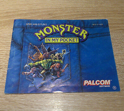 Nintendo NES // Monster in my Pocket - Anleitung/Instructions // dt. PAL