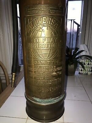Vintage Fire Extinguisher - Aged Copper w/ Brass Plate - Boston Mass