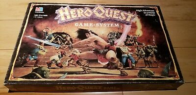 1990 Milton Bradley Hero Quest Board Game System Dungens & Dragons type