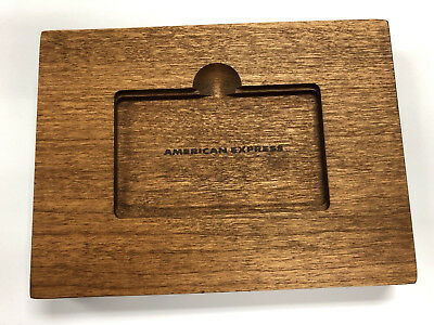 American Express AMEX Platinum Welcome Gift Wood Stand for Phone, Tablet, Kindle