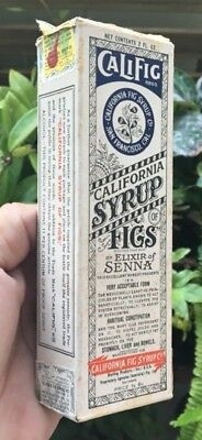 RARE UNOPENED CHEMIST MEDICINE BOTTLE FIG SYRUP ONE SHILLING & SIX PENCE 1920's