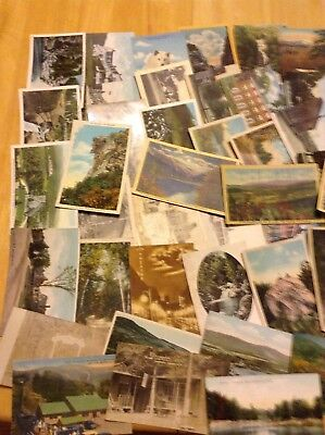 Lot of 60 Older New Hampshire, Franconia, White Mountains NH Vintage Postcards.