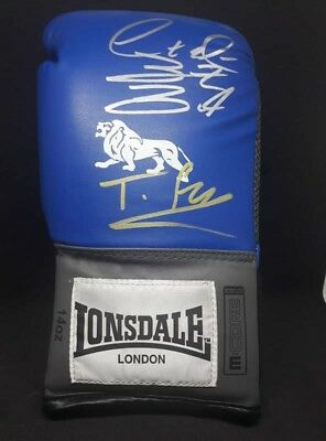 Exclusive Tyson Fury and Deontay Wilder Dual Signed Boxing Glove comes with COA