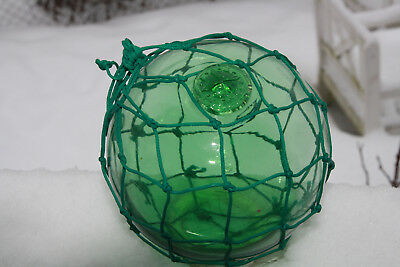 "Swedish ""Compass"" marked, glass fishing float"