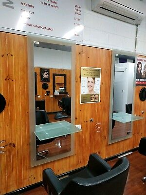 4x As New Hairdressers Workstations.  Fitout your salon.