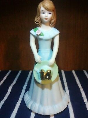 Growing up Girls from Enesco Brunette Age 14 Figurine 6.5 IN , New, Free Shippin