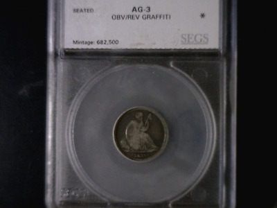 1837 No Stars Liberty Seated Dime - Encased, No Reserve Auction