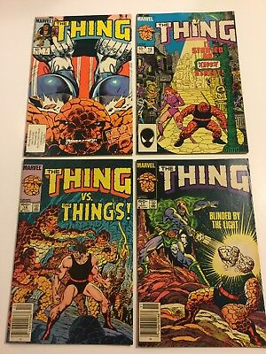 Lot Of 4 Marvel The Thing #7, 15, 16 & 17 Things Nice Ungraded Comics
