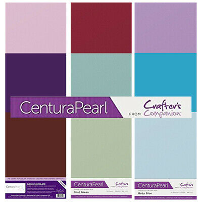 Black Crafter/'s Companion Centura Pearl Coloured Card 10 Sheet Pack