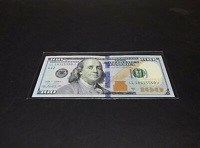1 SEMI-RIGID Vinyl Money Protector Sleeve US Dollar Bill CURRENCY HOLDERS BCW