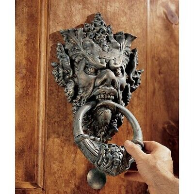 """Italian """"The Old Man of the forest"""" Authentic Iron Door Knock w/ Striker Greeter"""