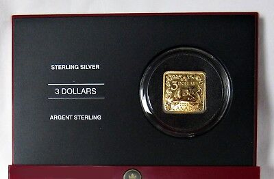 Royal Canadian Mint, 2006 $3 Square S. Silver Coin, 24K Gold Plated - The Beaver